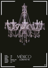 Lustre De Cristal K9 - Aaa 10 Braços México Lc6310-10