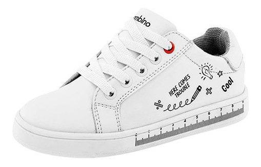 Bambino Sneaker Escolar Blanco Sintético Niño N80698 Udt