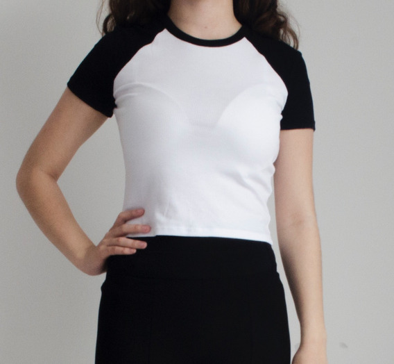 Combo Remera B/n + Short Elastizado Importados Zara España