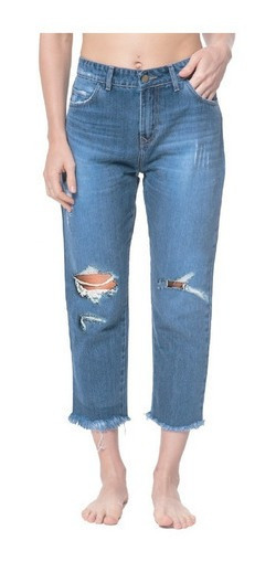 Jean Billabong New Wave Destroyed Azul Mujer