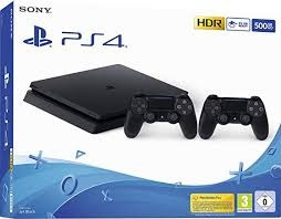 Playstation 4 Slim 500gb Jet Black/ Lacrado + Nota Fiscal!!