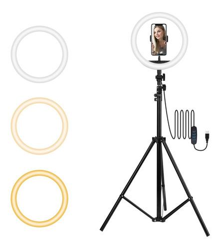 Anillo De Luz Para Selfie De 10 Pulgadas Con Trípode Led