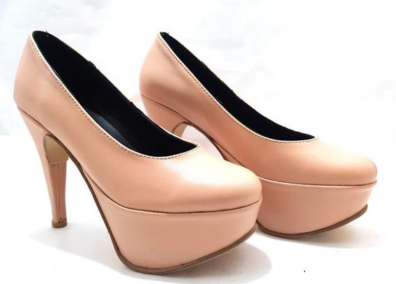 Sam123 Zapatos Stilettos 3580 Mujer Talles Chicos Nude