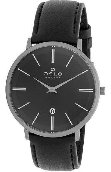 Relógio Oslo Masculino Preto E Cinza - Ombtcsor0001
