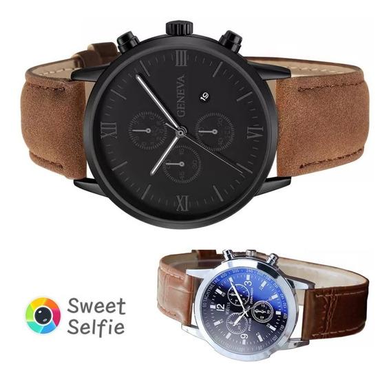 Promoção Kit 2 Relógios Masculino Quatzo Envio Imediato