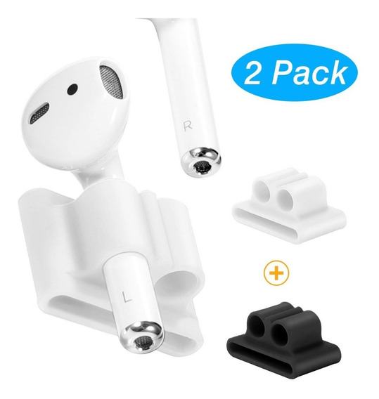 2 Pack Soporte Silicon Para AirPods Compatible Apple Watch