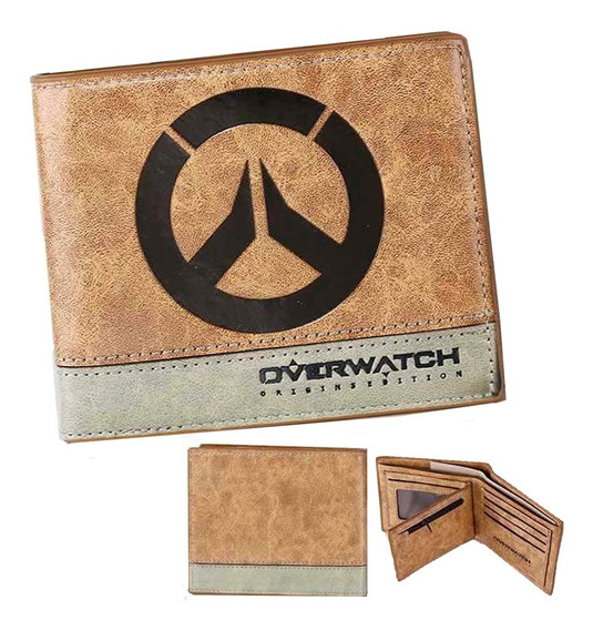 Overwatch Cartera Envio Gratis Billetera Dorada Monedero