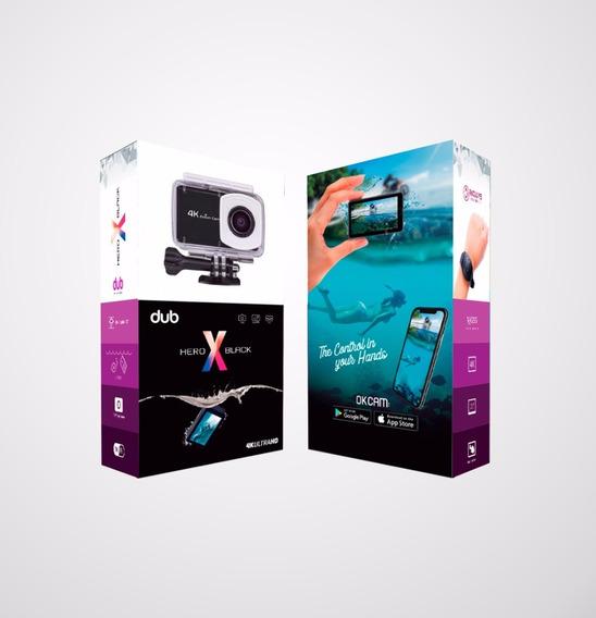 Câmera De Ação Dub Hero X Black 4k (action Cam)