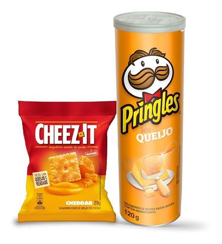 Kit Pringles Queijo 120g + Snack Cheez It Cheddar 29g