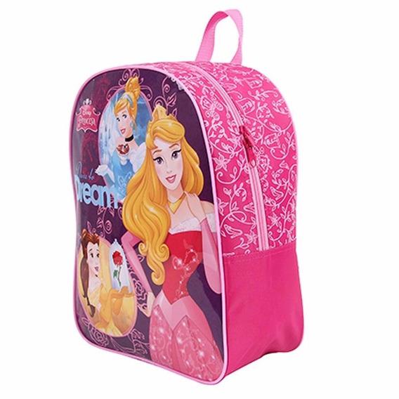 Mochila Grande Costas Princesas Disney Dermiwil Rosa