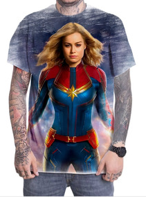 Camiseta Camisa Personalizada Capitã Marvel Filme Herói 03