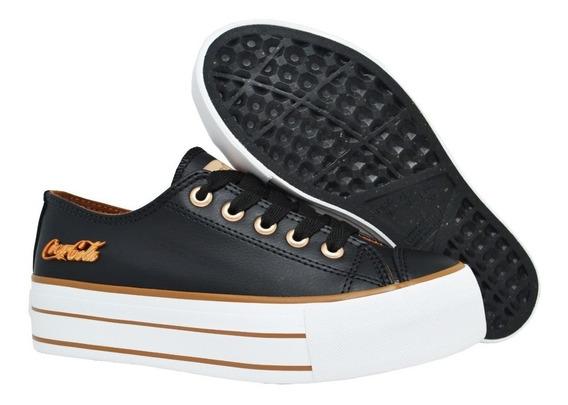 Tênis Feminino Flatform Coca Cola Shoes Original Black Urban
