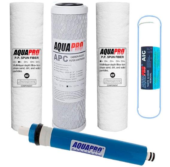 Kit De Filtros Aquapro 5 Etapas Para Osmosis Inversa
