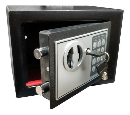 Caja Fuerte Digital 23x17x17cm C/llave De Seguridad 6 Cuotas