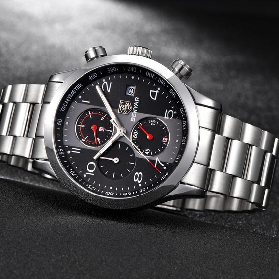Relogio Benyar Aviador Com Cronometro Ativo By5133