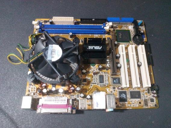 Placa Mãe Asus P5pe-vm Ddr1 Agp + Pentium 4 3ghz (audio Off)