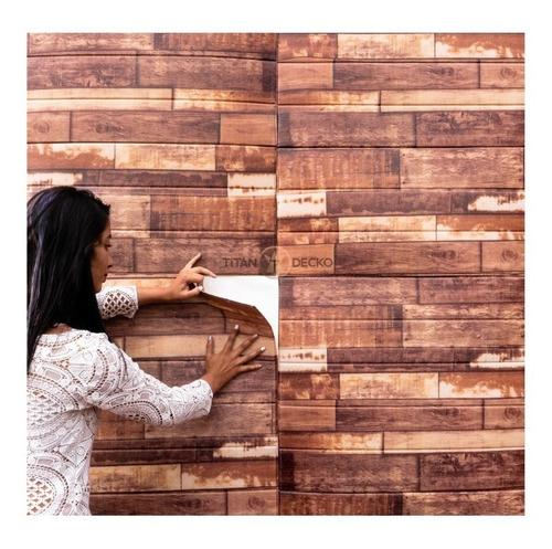Panel 3d Imitacion Madera - Panel Decorativo 3d Autoadhesivo