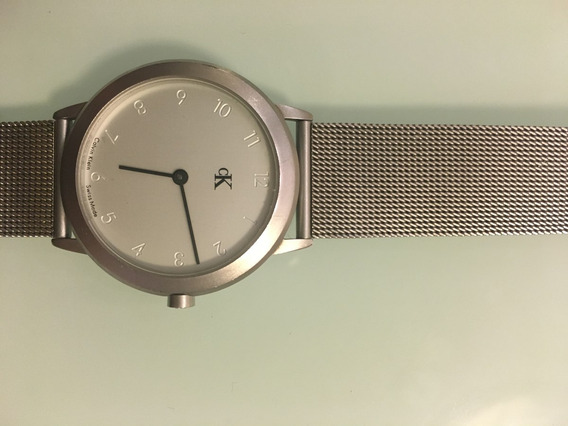 Relógio Ck Pulseira Prata Acetinada