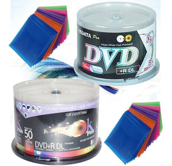 Dvd Doble Capa 8.5gb +r Dl Por Unidad Con Fundas