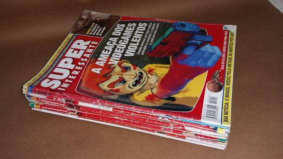 Lote 12 Revistas Superinteressante (físicas) + 4 Fascículos
