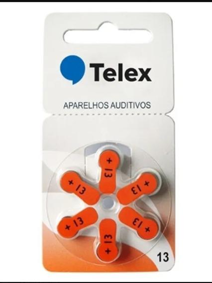 Pilha 13 Telex Pr48 Aparelho Auditivo(10 Cartelas 60pilhas)