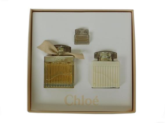 Kit Chloé Eau De Parfum Chloé 75 Ml+ Lotion + Miniatura