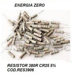 Resistor 380r Cr25 5% Pac 10 Unid Cod.res3906