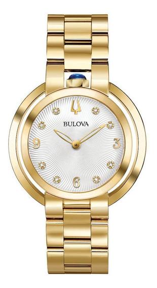 Relógio Feminino Bulova Rubaiyat Aço Dourado 97p125