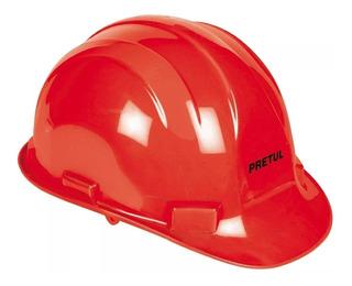 Casco Seguridad Rojo Pretul 25044
