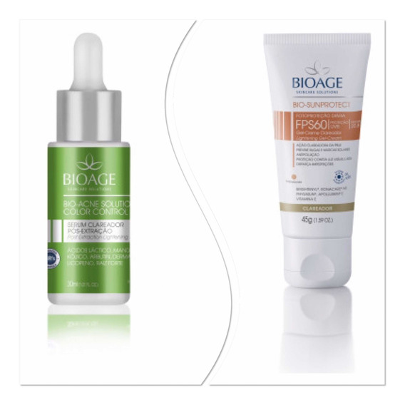 Serum Acne Color + Protetor Clareador Bioage