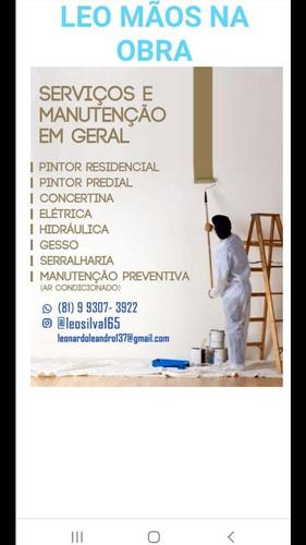 Leo Pintor Maos Na Obra