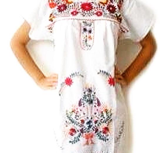 venta caliente más nuevo boutique de salida estilo limitado Patrones Para Bordado Mexicano Frida - Vestidos Blanco en ...