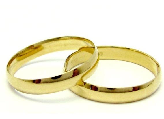Par Alianças Ouro 18k 750 Clássica 3mm 3gr Casamento
