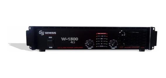 Amplificador Potência 150w Rms Genesis W 1500