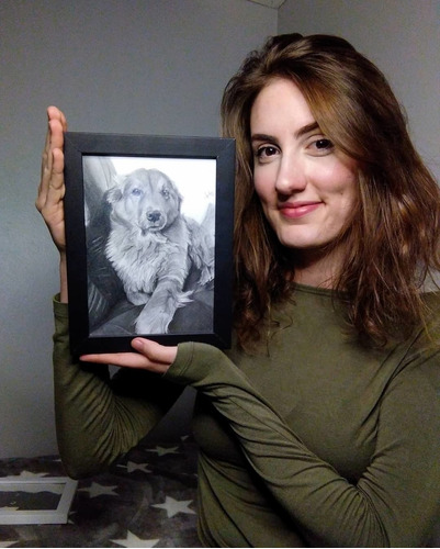 Imagem 1 de 5 de Desenhos / Retratos Realistas Pet