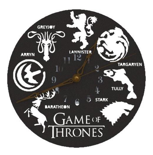 Reloj De Pared Game Of Thrones Casas Analógico 20cm