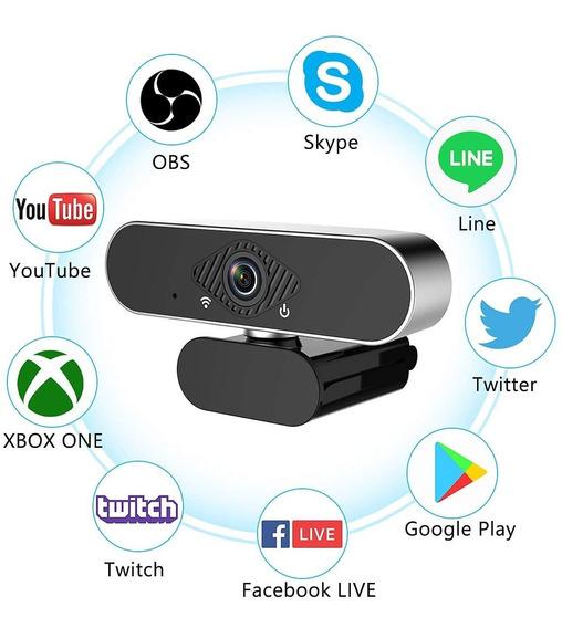 Webcam Câmera De Computador C/ Microfone 1080p Full Hd Usb !
