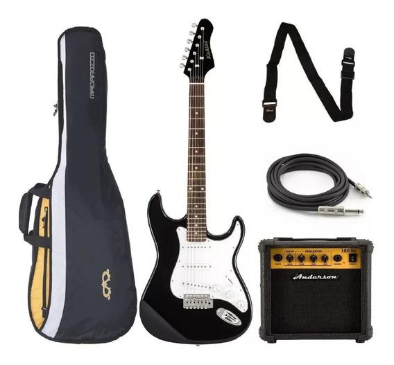 Combo Guitarra Eléctrica + Amplificador 10w + Accesorios