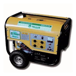 Grupo Electrogeno Generador Niwa 6kva Arr Electrico Gnw55er Monofasico Silencioso Hogar Nafta 4 Tiempos Para Casa