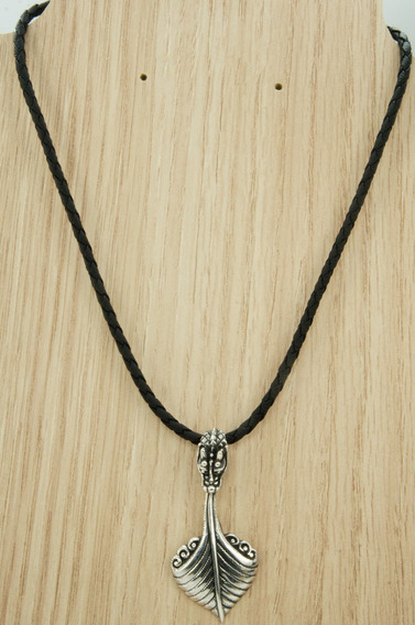 Colar Couro Pingente Dragão Bali Especial (l) Prata 925