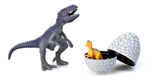 Imagen 1 de 4 de Huevo Dinosaurio Nace Hijo Dino Juguete Original Niños Muñec