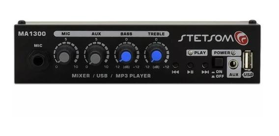Mixer Stetsom Ma-1300 Ma1300 Com Entrada Usb Auxiliar