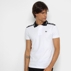 76a92e4cdb Camisa Polo Rg 518 Gola Estampada Masculina - Cor Branco