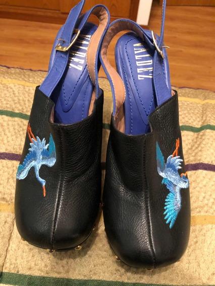 Stilettos Valdez Originales Cuero Talle 39