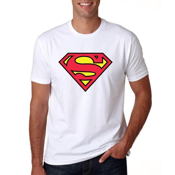 Camisa Masculina Super Herói Superman Manga Curta