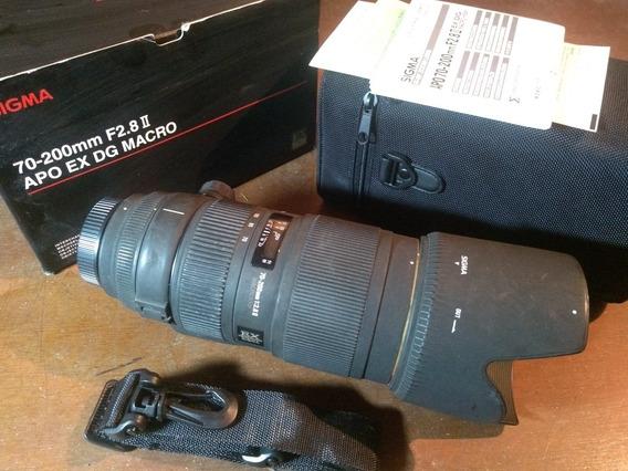 Zoom Sigma 70-200 F2.8 Apo Para Nikon