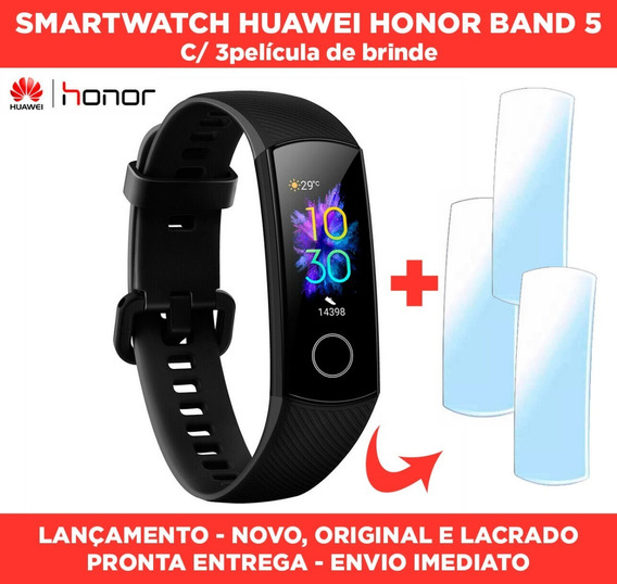 Relógio Smartwatch Huawei Honor Band 5 Original + Oxímetro + Batimentos Cardiacos + 3 Películas - Pronta Entrega