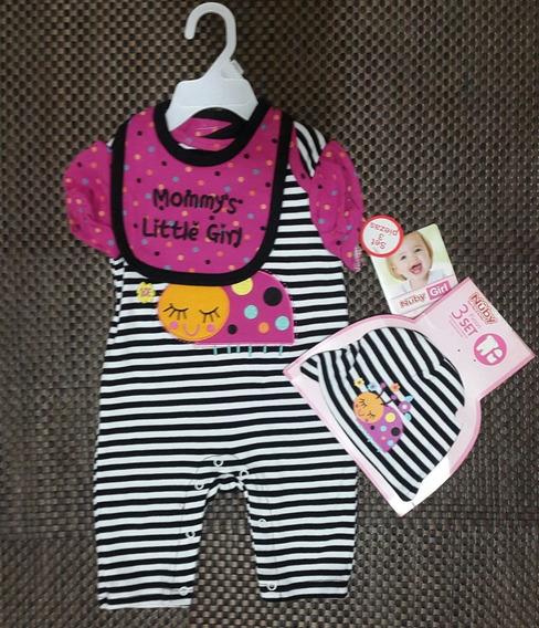Pijama Nuby 3 Piezas Talla 3 A 6 Meses
