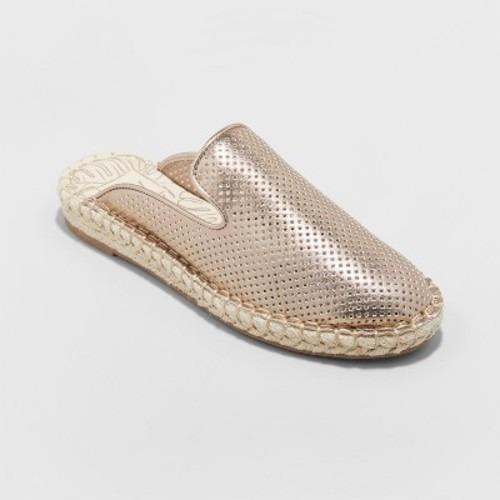 Zapatos Alpargatas Doradas Para Dama Marca Dv Medida 26.5