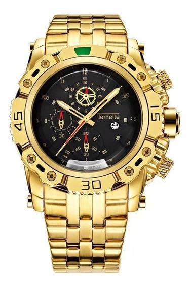 Relógio Masculino Temeite Luxo 100% Original Pronta Entrega